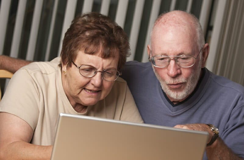 Hospitality owners looking at a computer and being confused