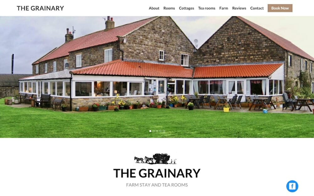 The Grainary Website from Boostly