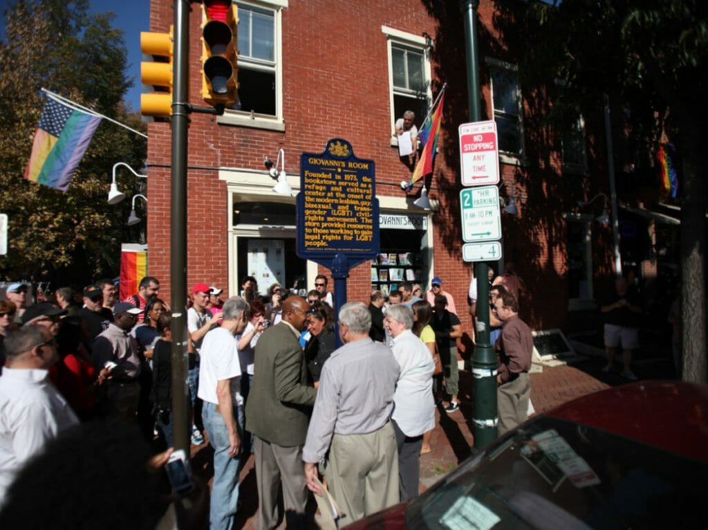 Tourists explore Philadelphia's gay neighborhood