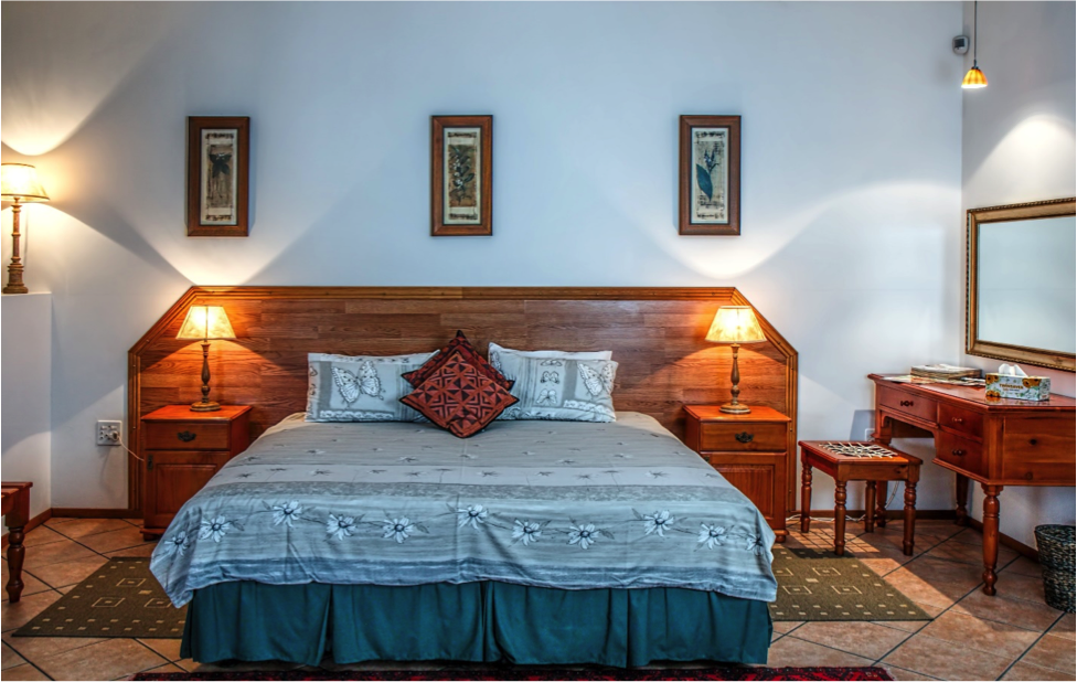 Hotel room in a rustic style