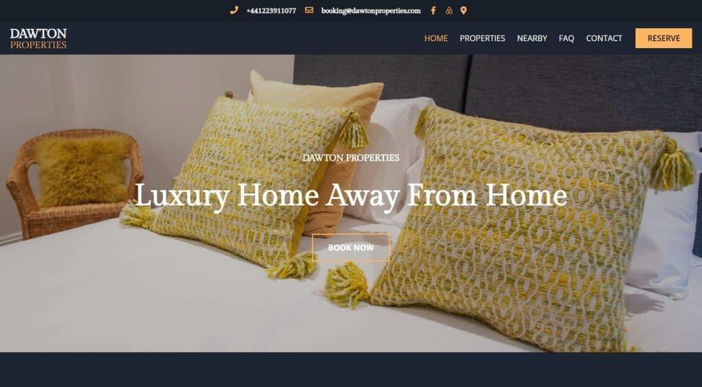 Serviced accommodation website