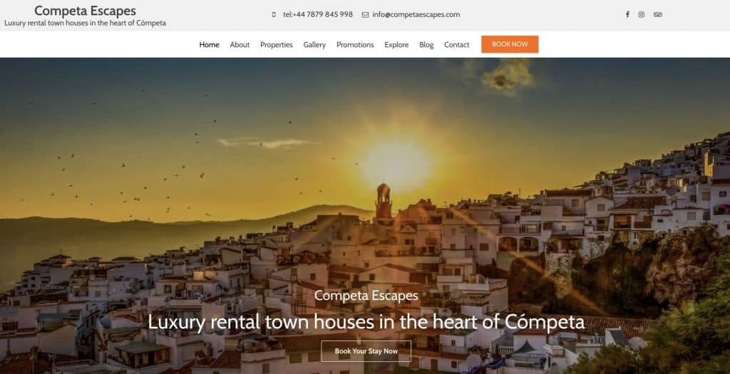 Website for town house
