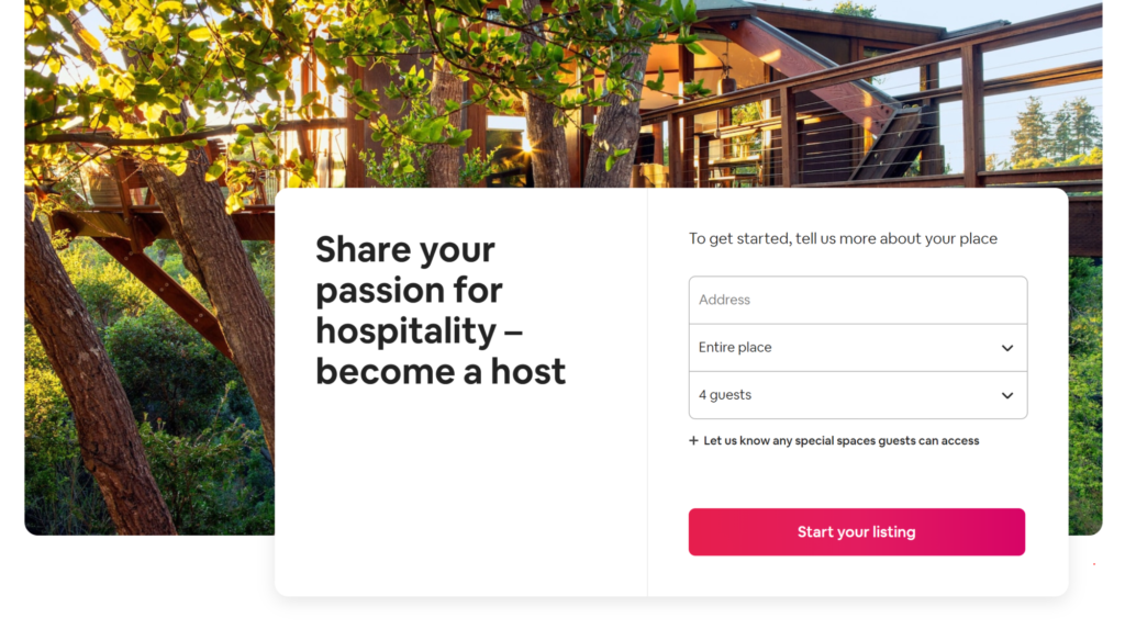 Airbnb make becoming a host extremely simple