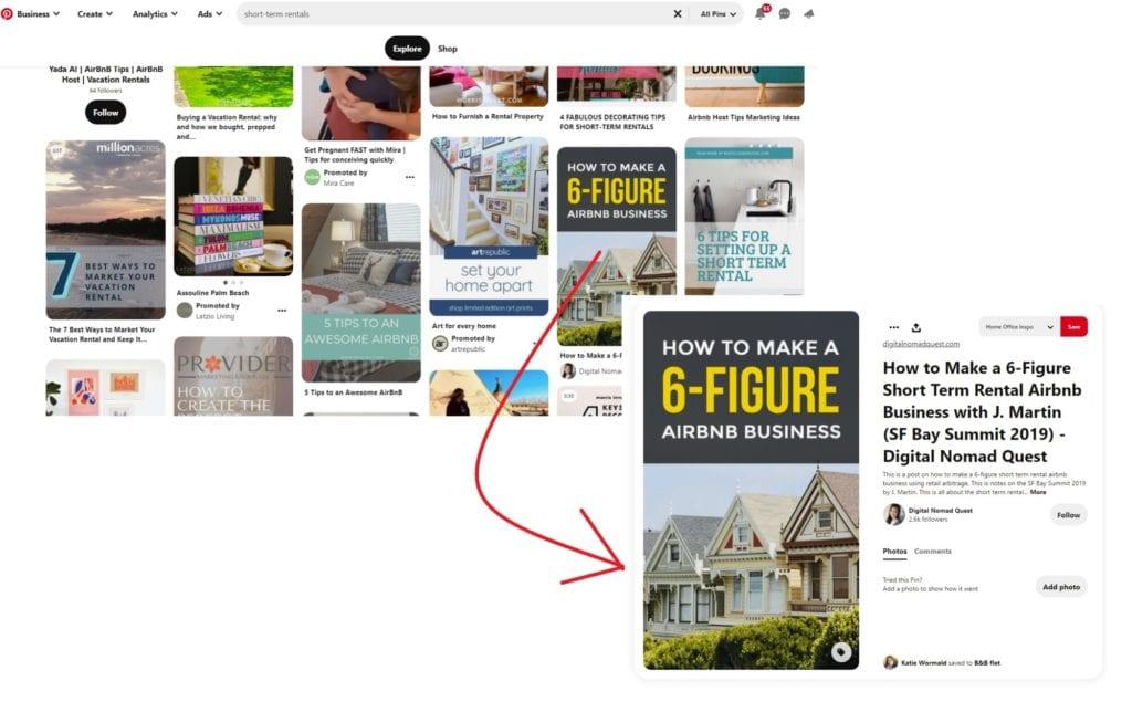 Pinterest pin screenshot