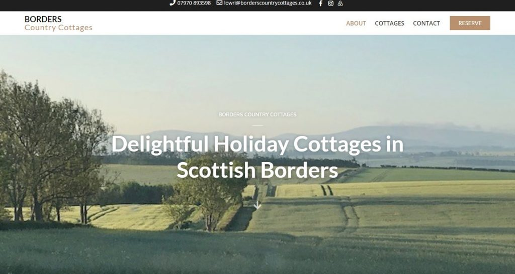 Borders Country Cottages - Delightful Holiday Cottages in Scottish Borders