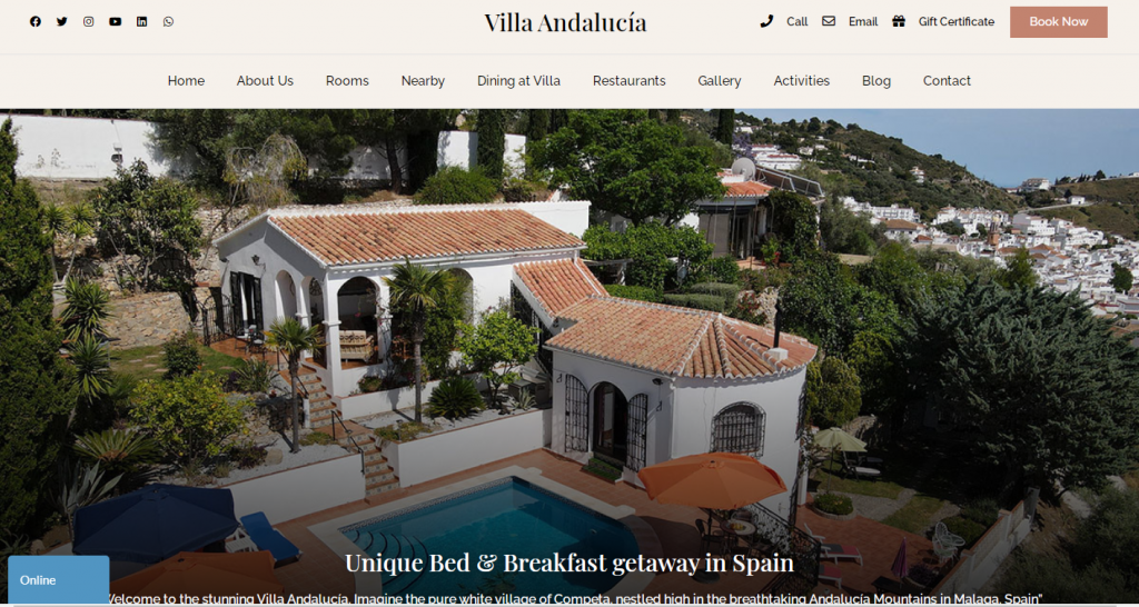 Villa-Andalucía-Bed-and-Breakfast-Official-Site-Book-Direct