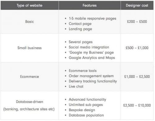 website cost